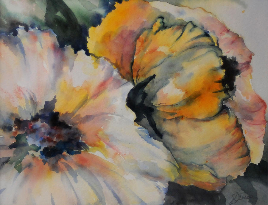 Floral Painting - Fluffy And Free by Shelley Hagmaier