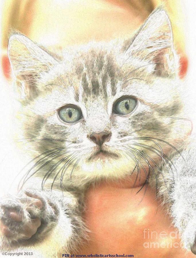 Fluffy Kitten Photograph by PainterArtist FIN