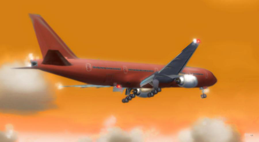 Boeing 777 Digital Art - Fluid Dynamics by Marcello Cicchini