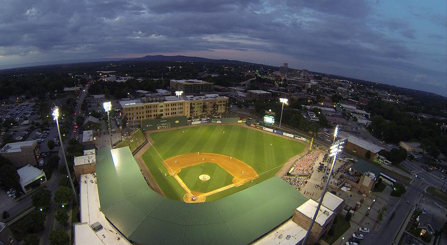 Greenville Photograph - Fluor Field by Rick Lecture