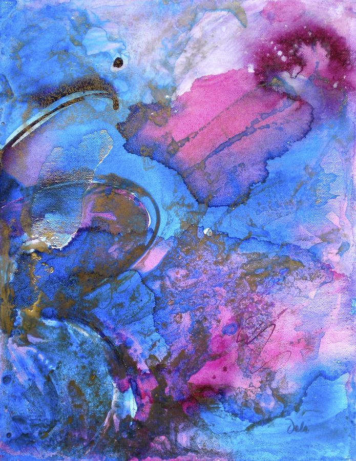 Debi Painting - Flutter By 2 by Debi Starr