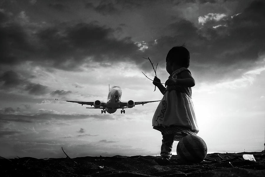 Child Photograph - Fly Again by