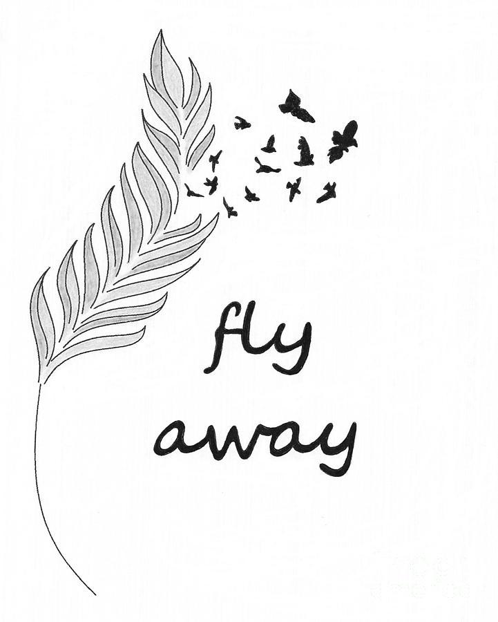 Feather Photograph - Fly Away by Jennifer Kimberly
