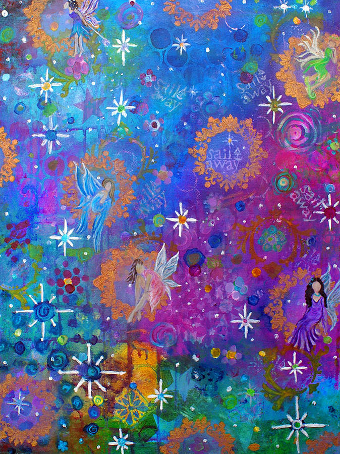 Fairies Painting - Fly Away To Fairy Day by The Art With A Heart By Charlotte Phillips
