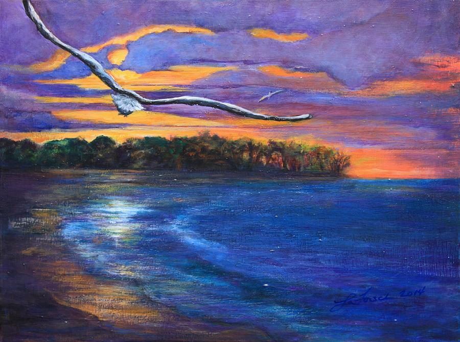 Island Painting - Fly By Night II by Susi LaForsch