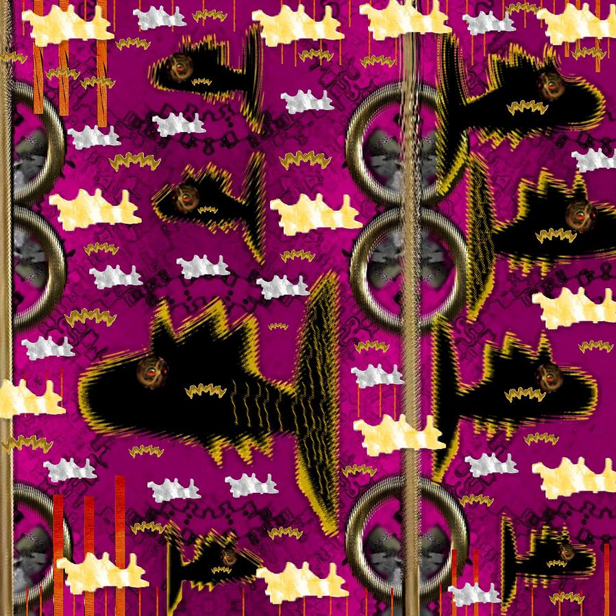 Seascape Mixed Media - Fly Fish Pop Art by Pepita Selles