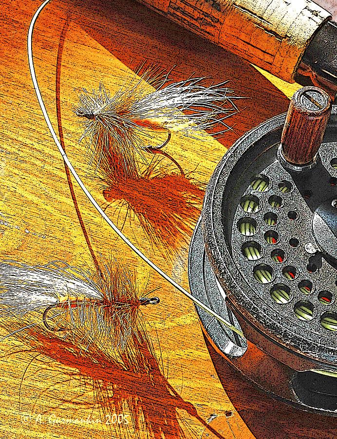 Fishing Photograph - Fly Fishermans Table Digital Art by A Gurmankin