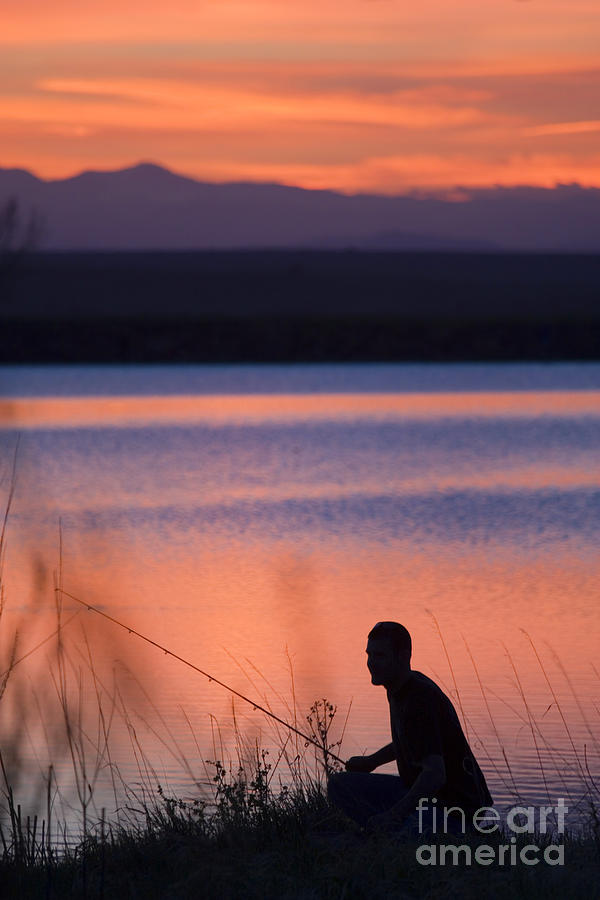 Fly Fishing At Sunset Photograph