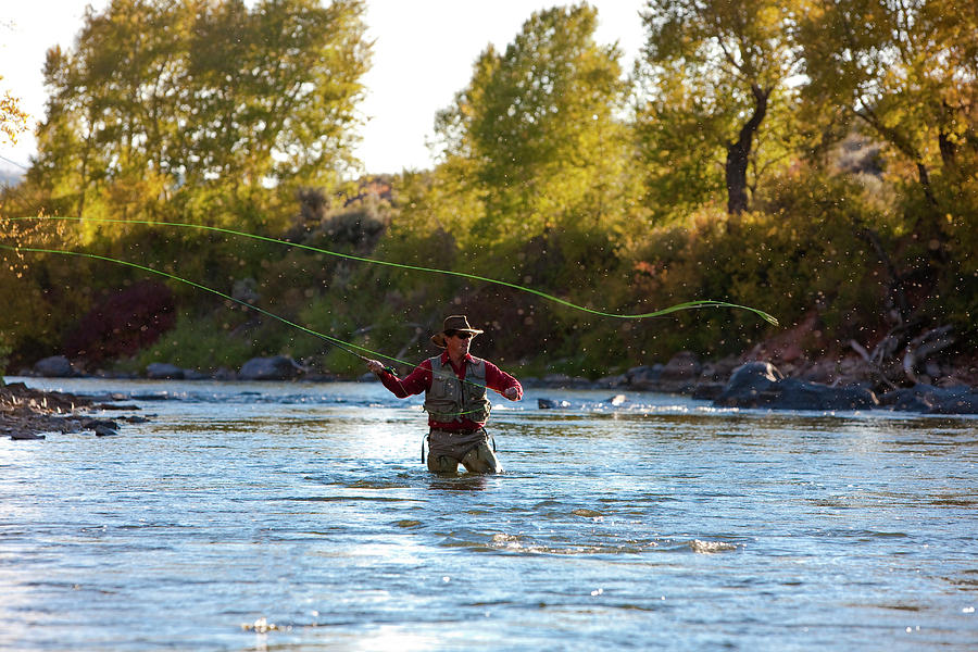 Colorado Photograph - Fly Fishing by Jack Affleck