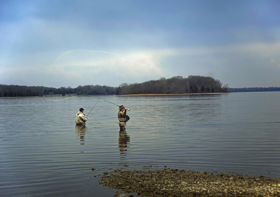 Fly Fishing Photograph - Fly Fishing by Steven Michael