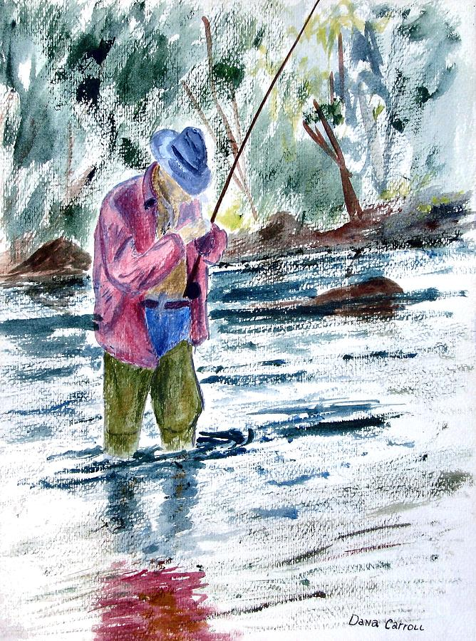Outdoors Painting - Fly Fishing the South Platte River by Dana Carroll
