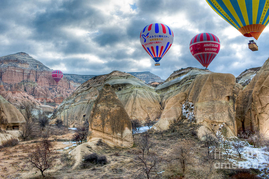Turkey Photograph - Fly Into Kappadokia by Juergen Klust