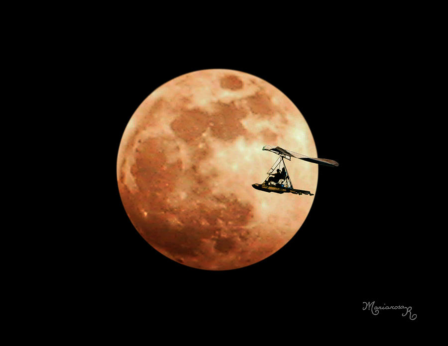 Moon Photograph - Fly Me To The Moon by Mariarosa Rockefeller