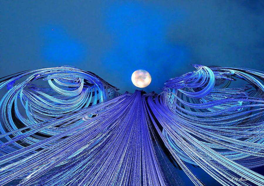 Moon Digital Art - Fly Me To The Moon by Michael Durst