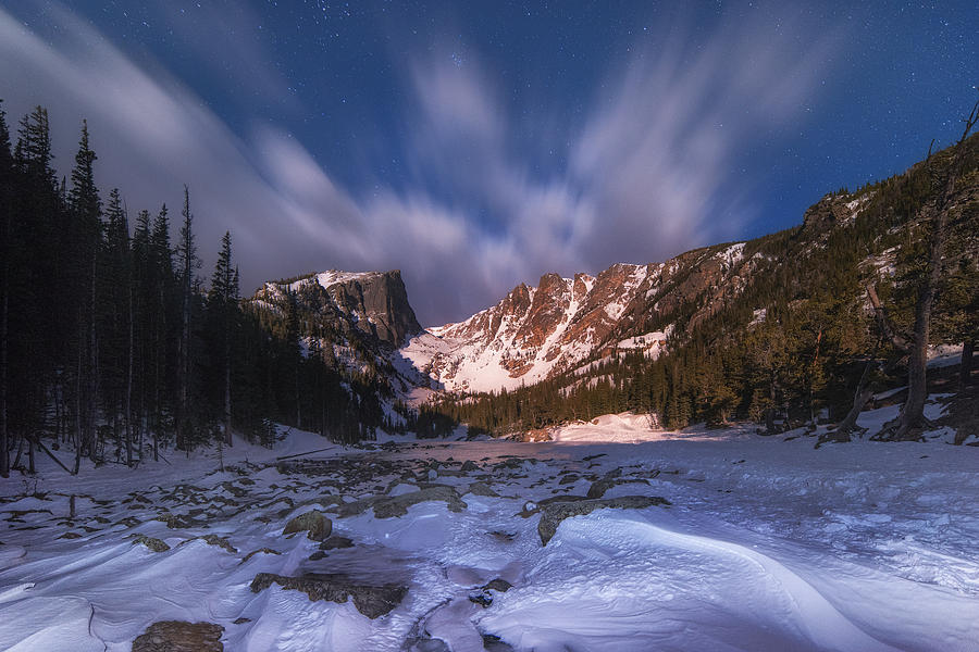 Flying Clouds Over Dream Lake Photograph