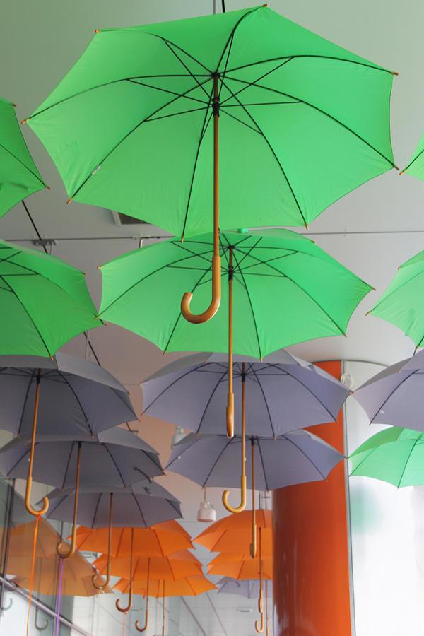 Umbrella Photograph - Flying Colorful Umbrellas  by Diana Dimitrova