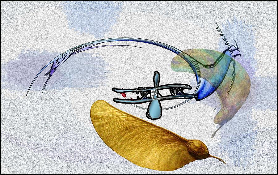 Flying cramp Digital Art by Gyula Friewald