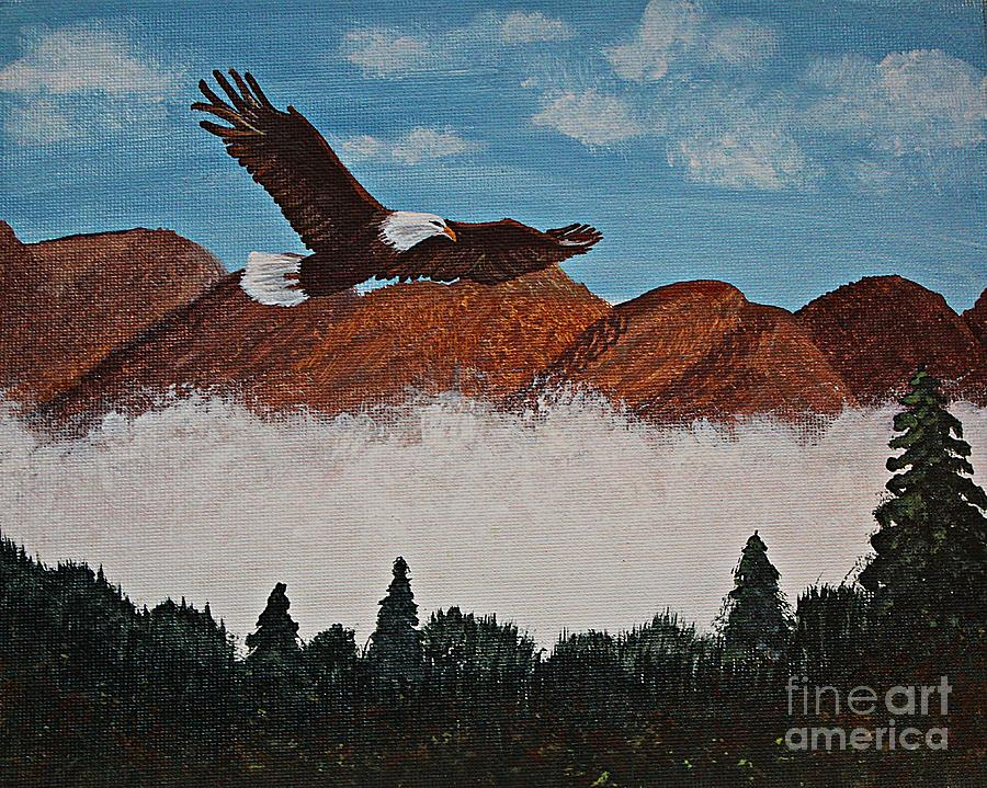 Barbara Griffin Painting - Flying High by Barbara Griffin