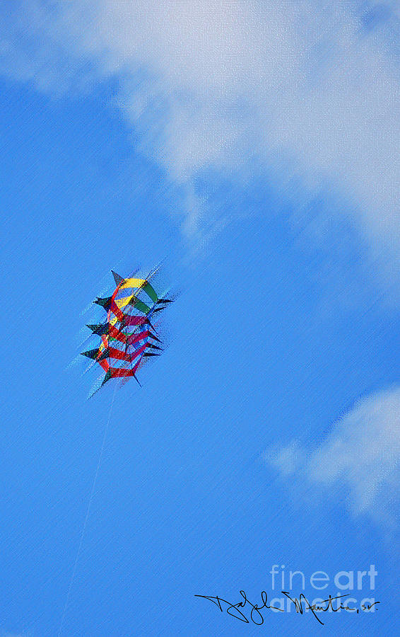 Unique Kite Photograph - Flying High II  by Art Mantia