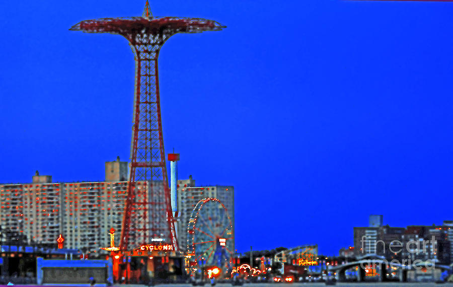 Coney Island Photograph - Flying High In Coney Island by Kendall Eutemey