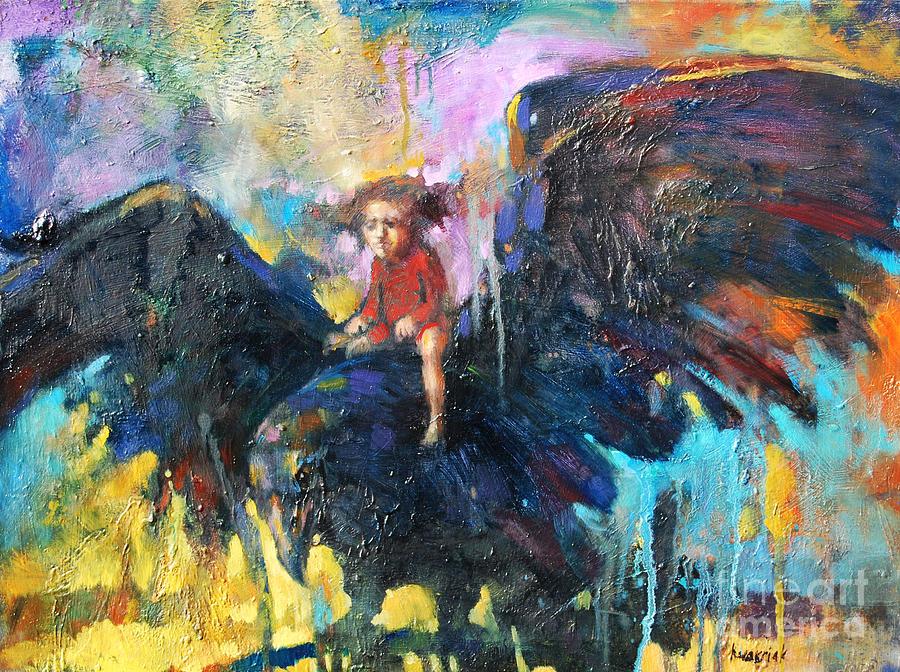 Flying In My Dreams Painting - Flying In My Dreams by Michal Kwarciak