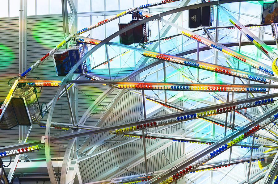Fly Photograph - Flying Inside Ferris Wheel by Luther Fine Art