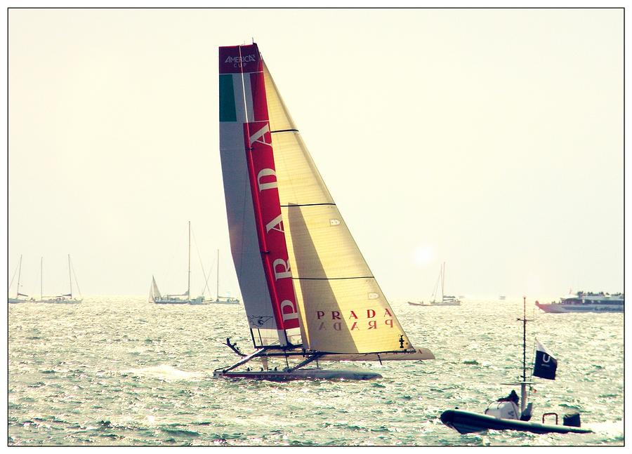 Luna Rossa Photograph - Flying On Wather by Stefano Filesi