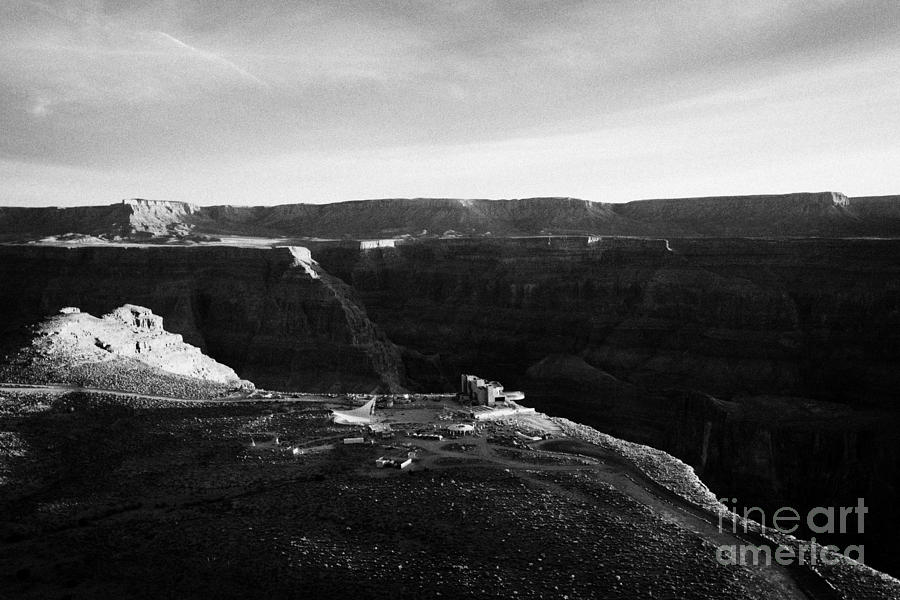 Aerial Photograph - Flying Over Land Approaches To The Rim Of The Grand Canyon At Eagles Point In Hualapai Indian Reserv by Joe Fox