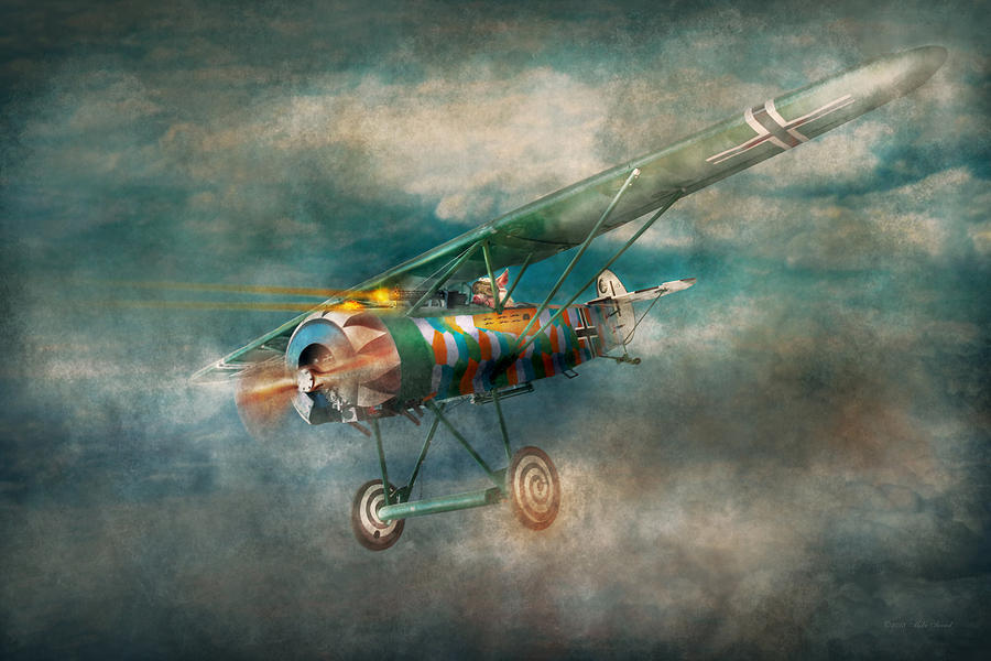 Wwi Digital Art - Flying Pig - Acts Of A Pig by Mike Savad