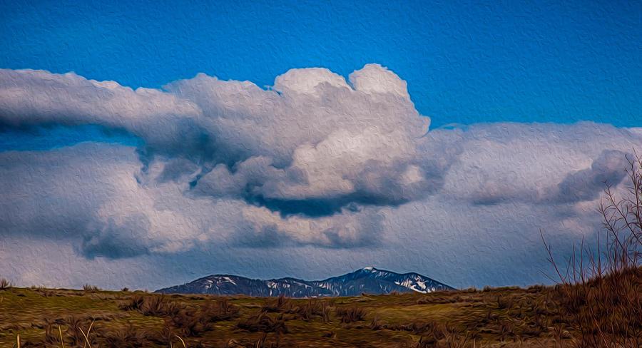 North Cascades Painting - Flying Rain Spirit by Omaste Witkowski