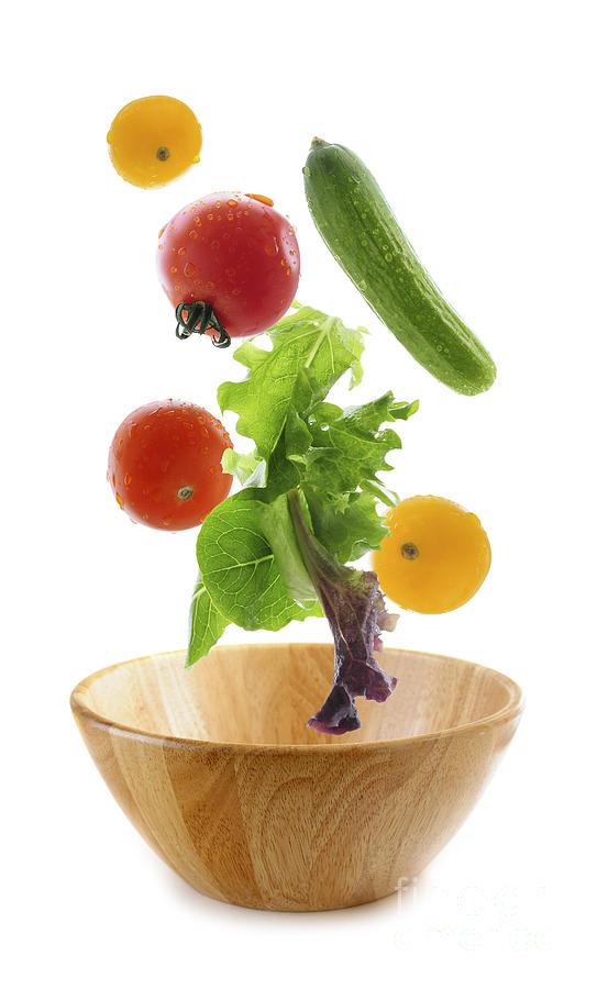 Vegetable Photograph - Flying Salad by Elena Elisseeva