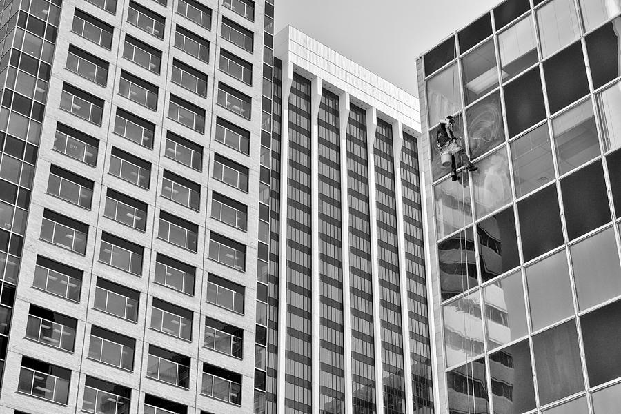 Window Washer Photograph - Flying Solo by Trever Miller