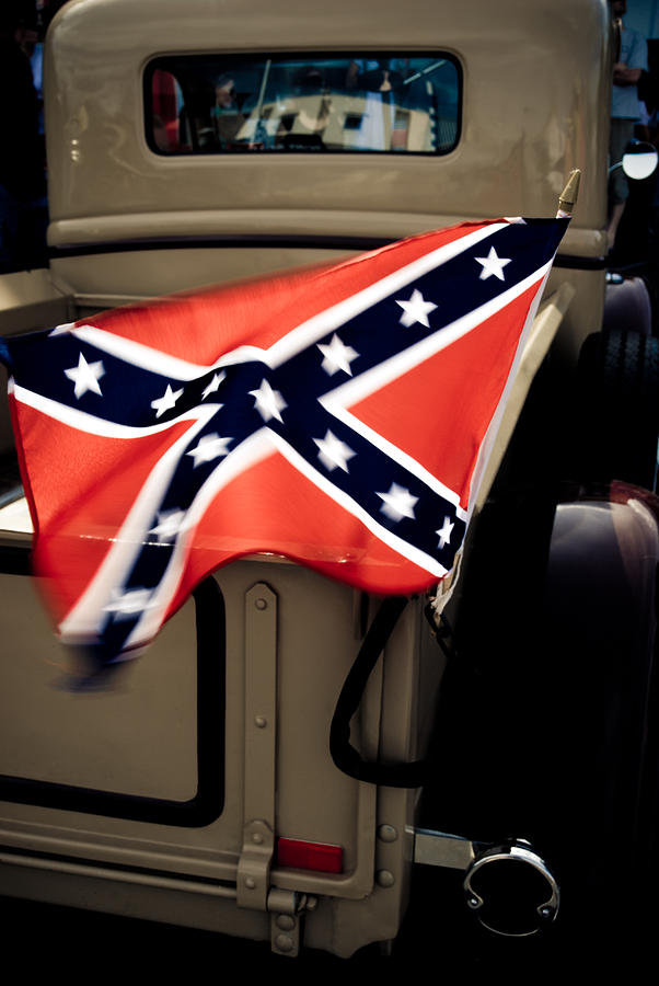 Confederate Flag Photograph - Flying The Flag by Phil motography Clark