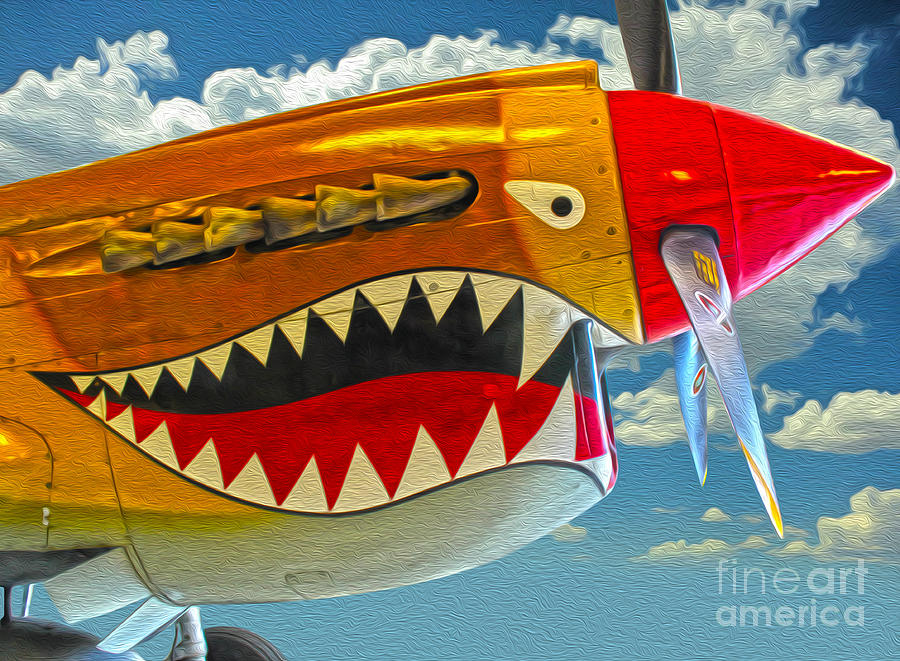 Flying Tiger Painting - Flying Tiger by Gregory Dyer