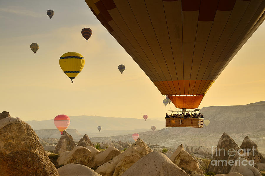 Asia Photograph - Flying with the fairies 2 - Cappadocia Turkey by OUAP Photography