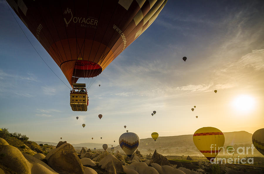 Asia Photograph - Flying With The Fairies - Cappadocia Turkey by OUAP Photography