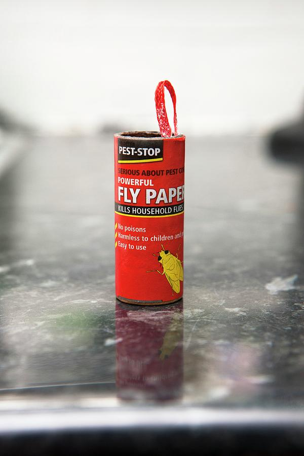 Housefly Photograph - Flypaper Container by Lewis Houghton/science Photo Library