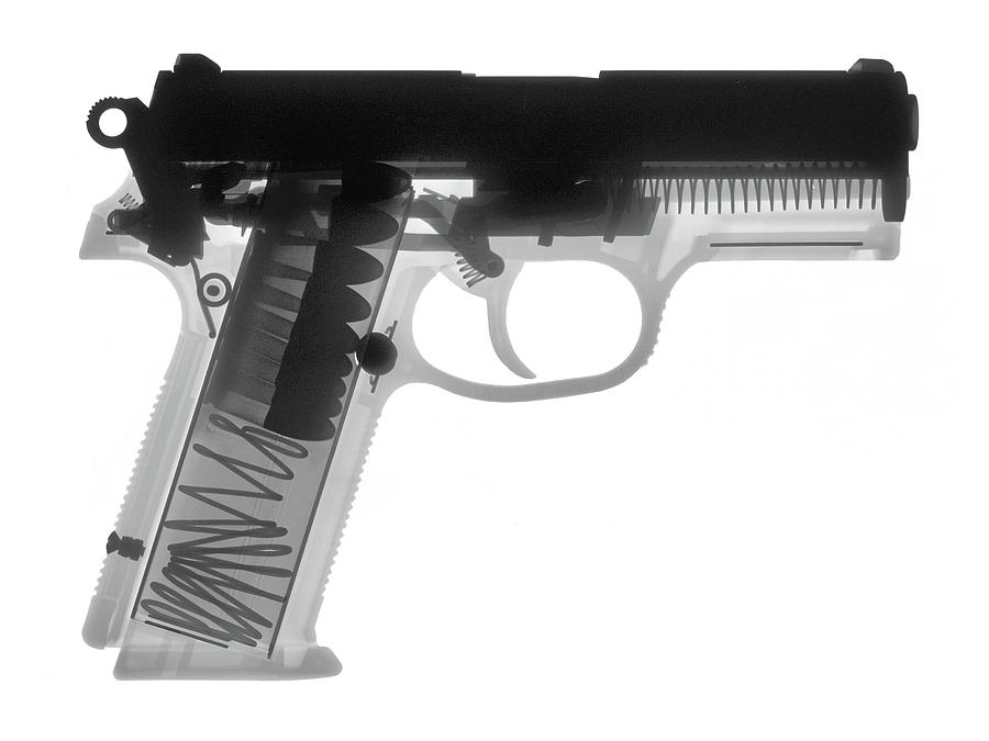 Antique Firearms Photograph - Fn P9a Hand Gun X-ray Print by Ray Gunz