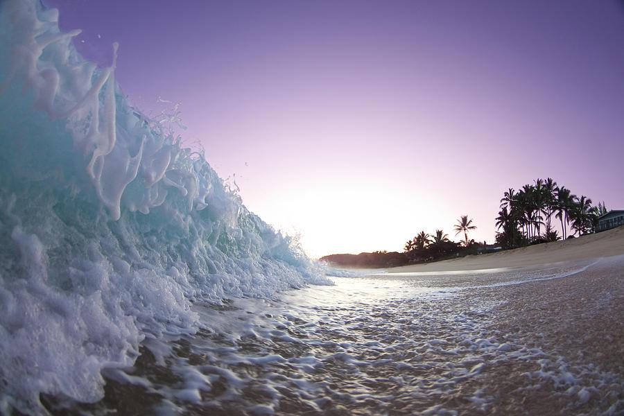 Sea Photograph - Foam Wall by Sean Davey