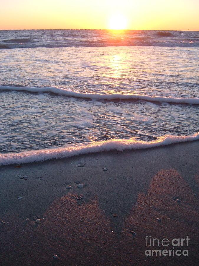 Beach Photograph - Foamy Shore by Sean Hughes