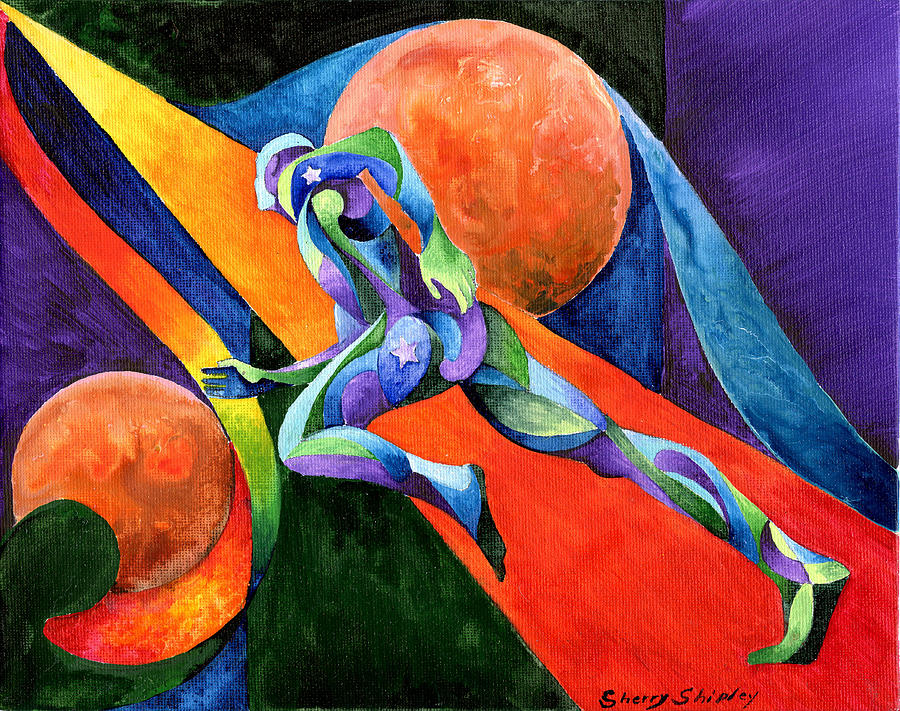 Runner Painting - Focus on you Dreams and Goals by Sherry Shipley