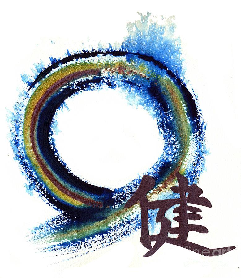 Zenga Painting - Focused Vigor - Zen Enso by Ellen Miffitt