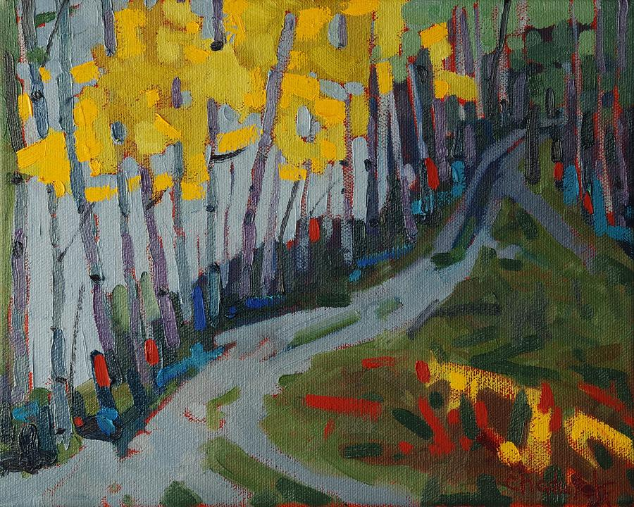 Birch Painting - Fog Birches On The Edge by Phil Chadwick