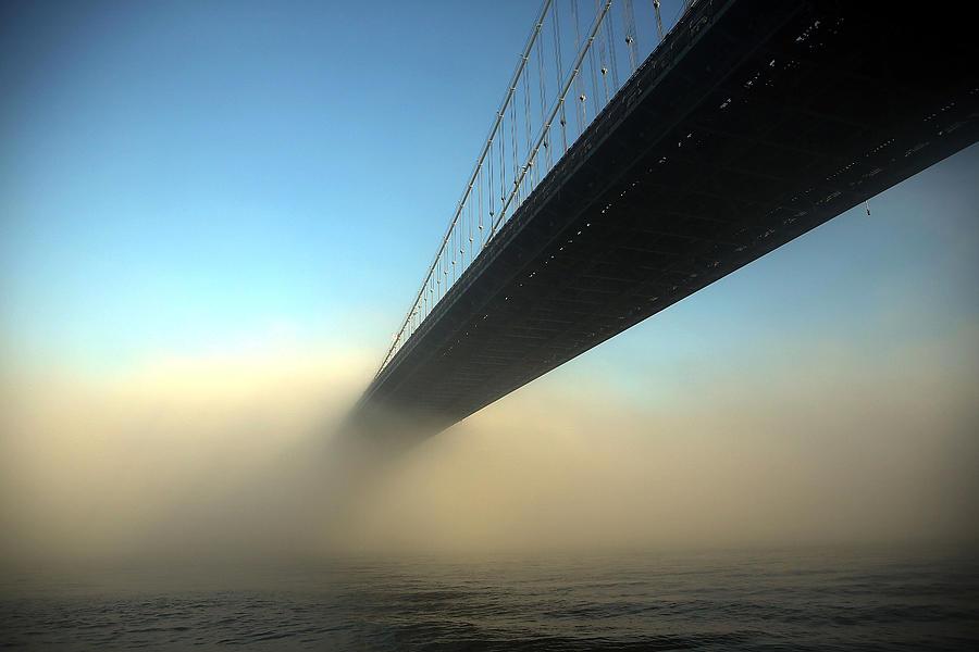Fog Descends On New York City Photograph by Spencer Platt