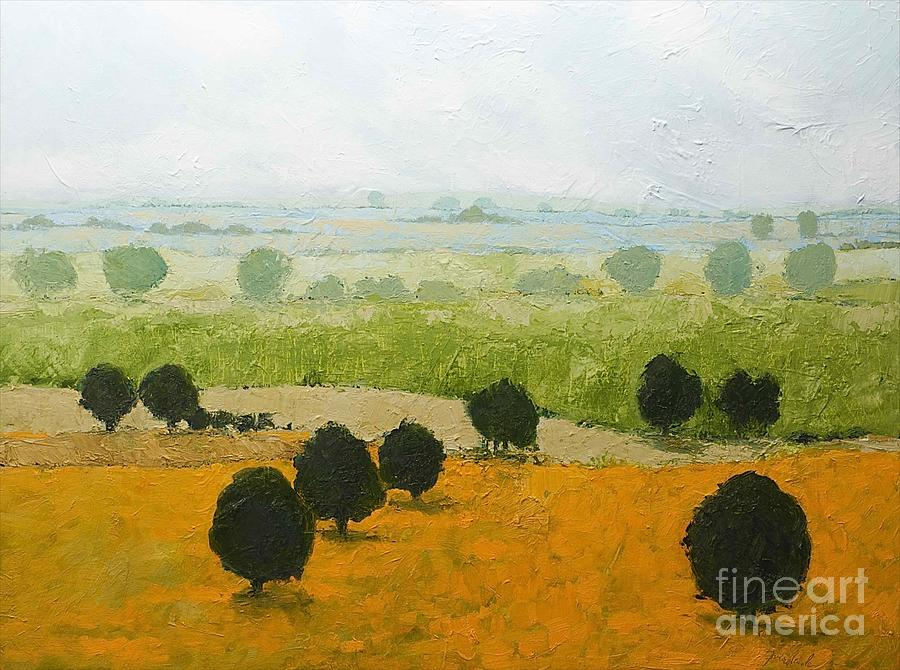Landscape Painting - Fog Lifting Fast by Allan P Friedlander