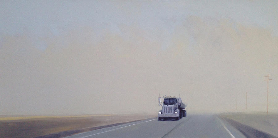 Truck Painting - Fog On Rt.150 by Jeffrey Bess