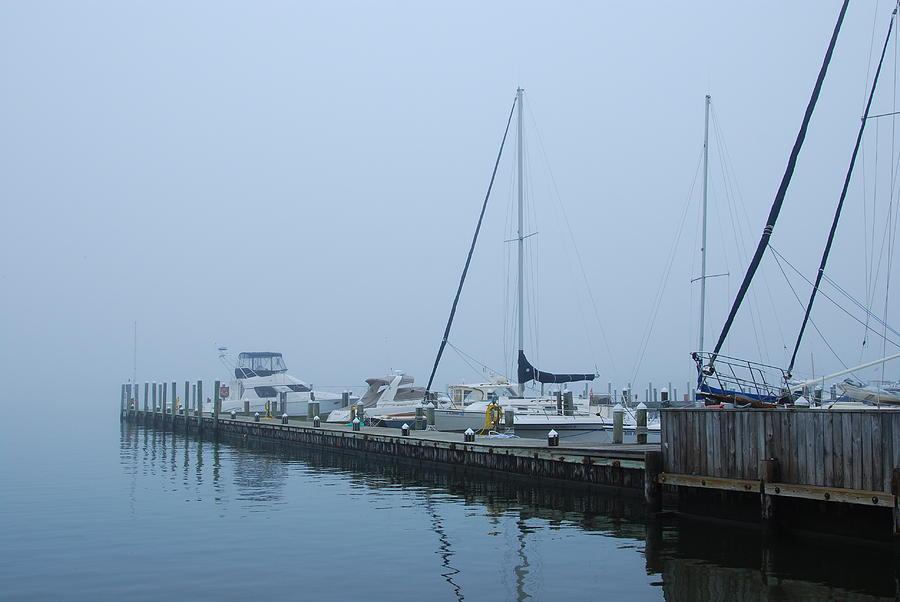 Jersey Shore Photograph - Fog On The Marina - Jersey Shore by Angie Tirado