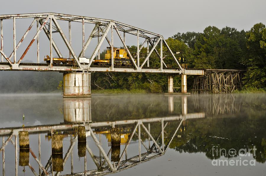 Crane Photograph - Fog On The River by Debra Johnson