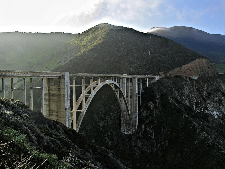 Bixby Creek Bridge Photograph - Fog Over Bixby Creek by Elery Oxford