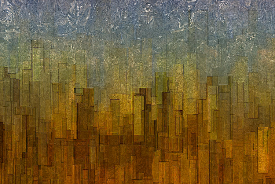 Abstract Painting - Fog Over Midtown by Jack Zulli